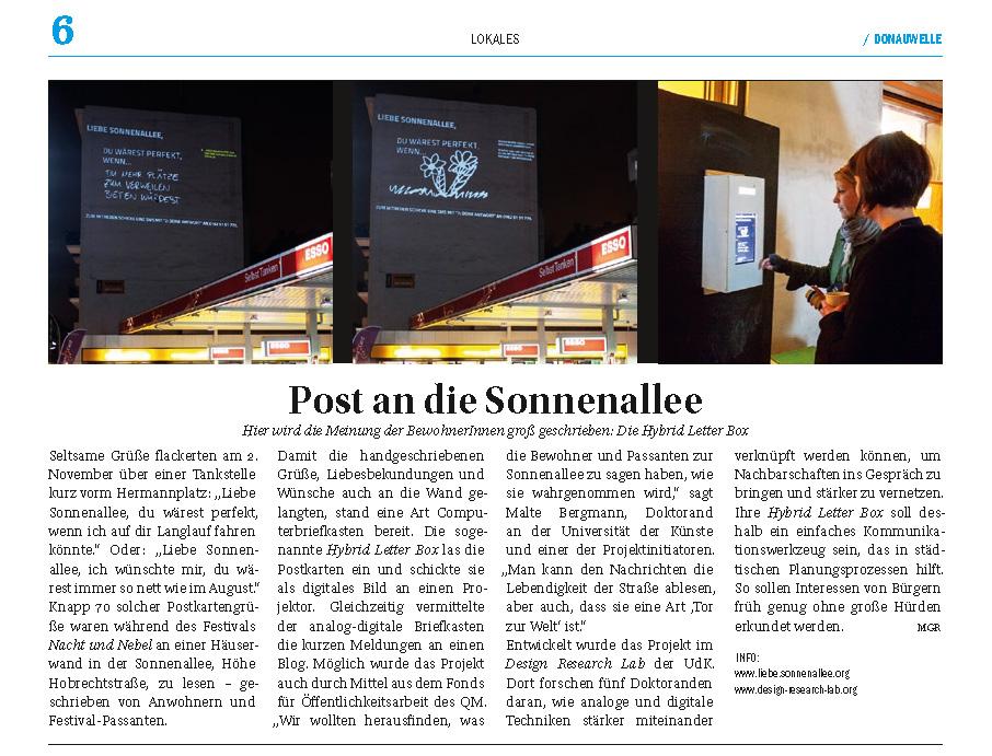 ArtikelLiebeSonnenallee_Donauwelle0413
